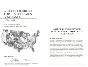 Asylee Eligibility for Resettlement Assistance: A Short Guide