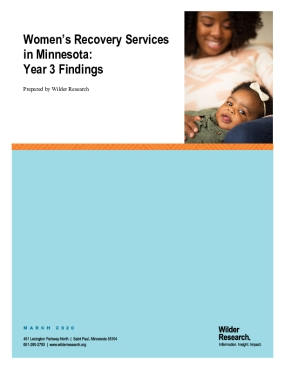 Women's Recovery Services in Minnesota: Year 3 Findings