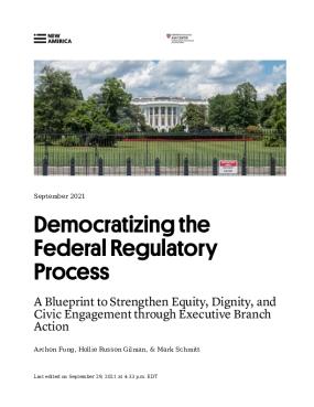 Democratizing the Federal Regulatory Process