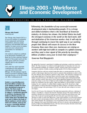 Illinois 2003 - Workforce and Economic Development: Investing in the Future of Illinois